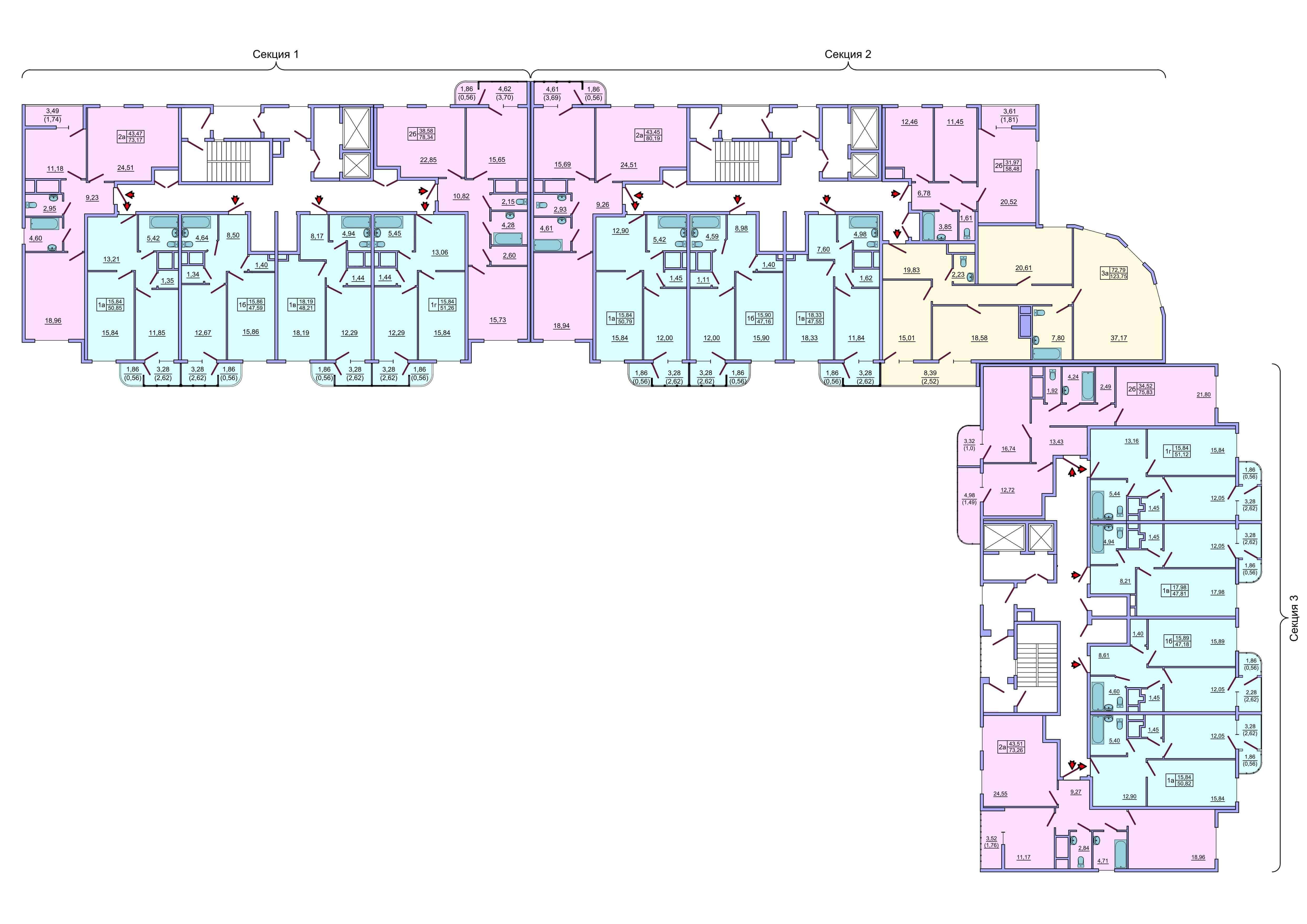 Планировка жилого комплекса черемушки