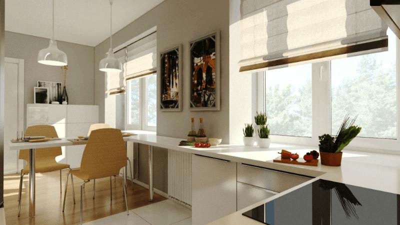планировка двухкомнатной квартиры студии