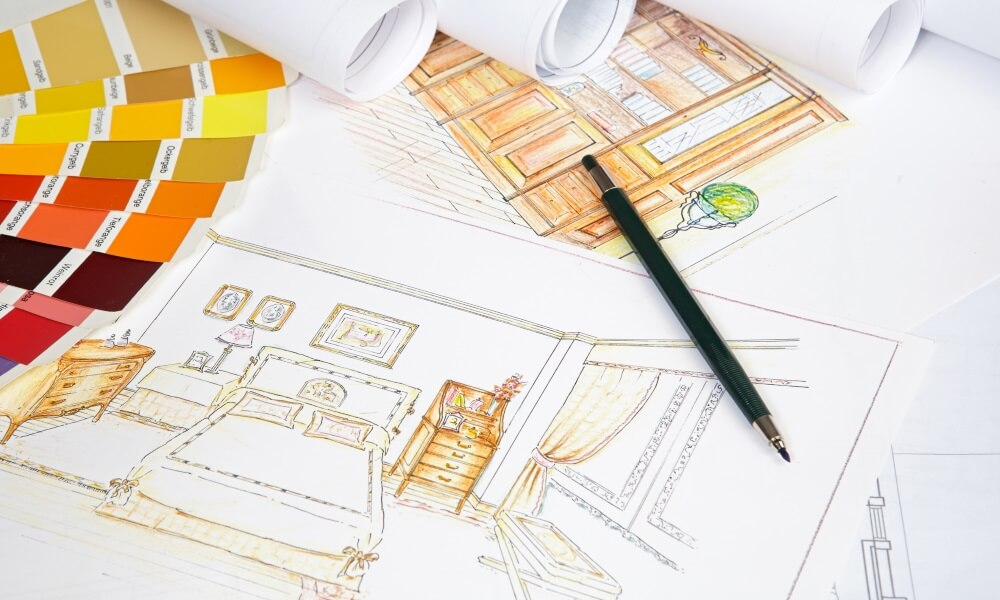 Чертеж дизайн интерьера квартиры