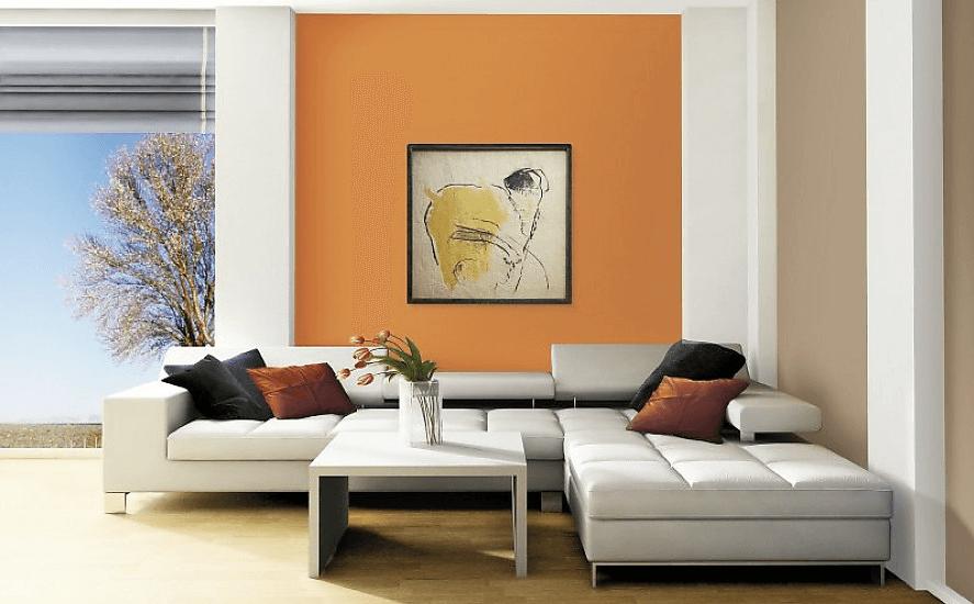 сочетание цветов стен в квартире
