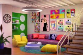 Стиль поп-арт в дизайне квартир