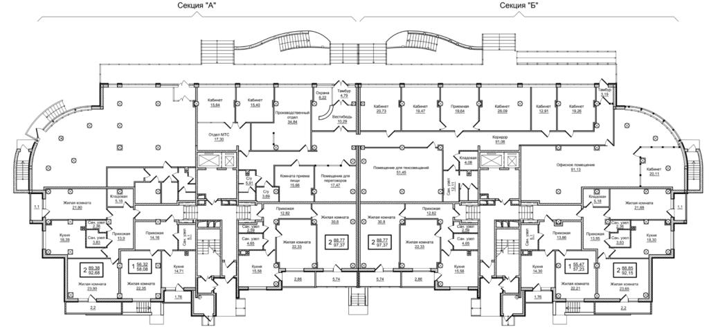 Планировка 1-го этажа Слобожанский квартал