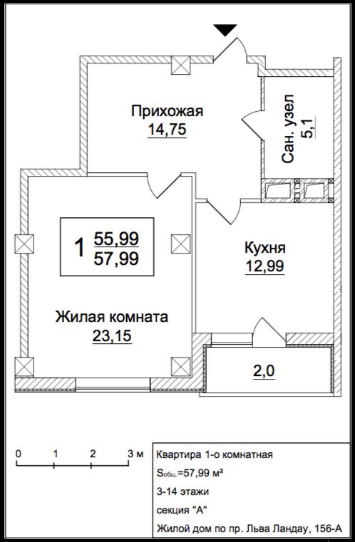 Однокімнатні квартири