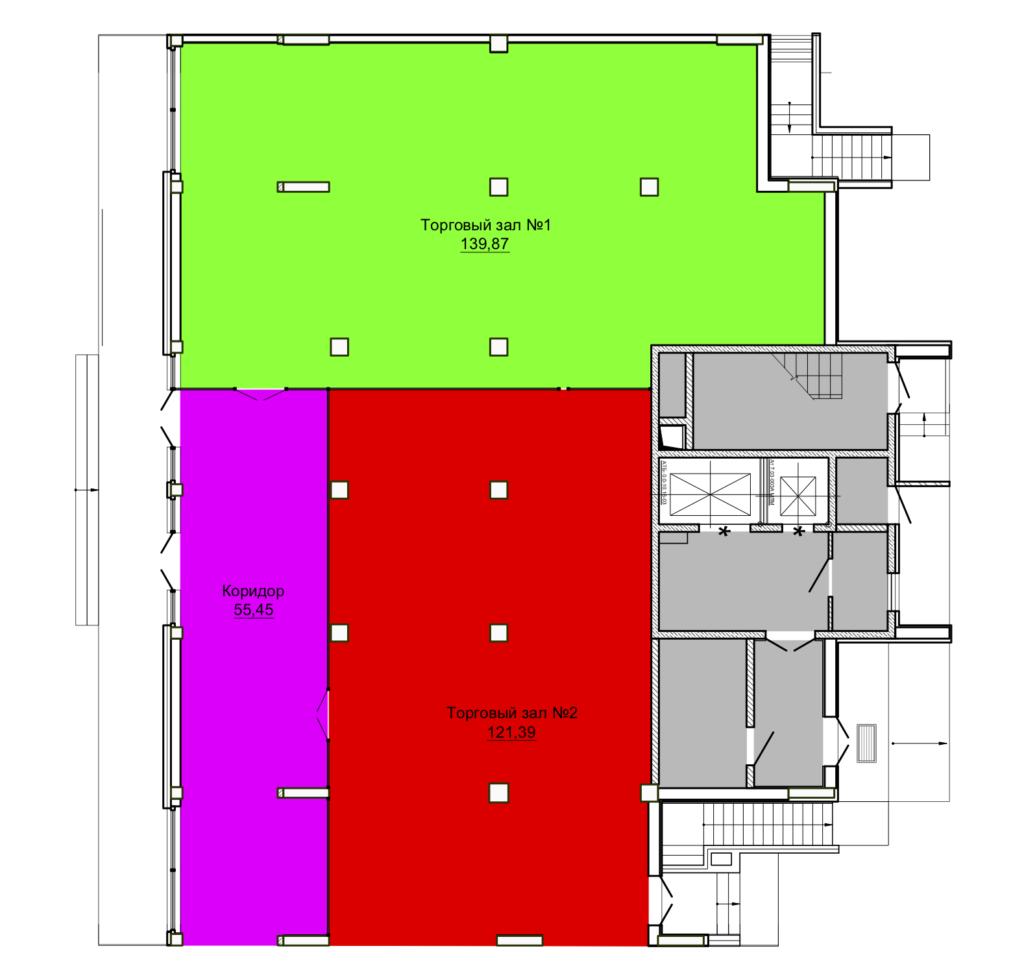 1 этаж блок-секция №2