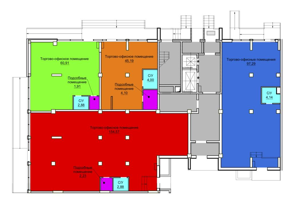 1 этаж блок-секция №1