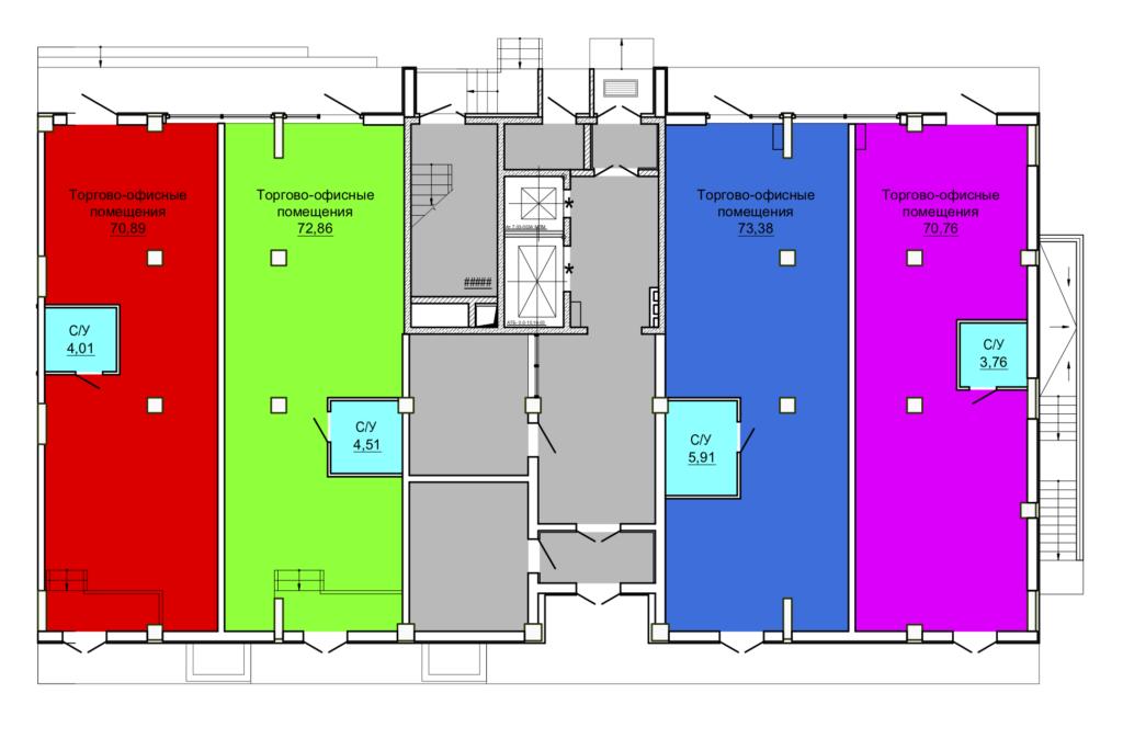 1 этаж блок-секция №4