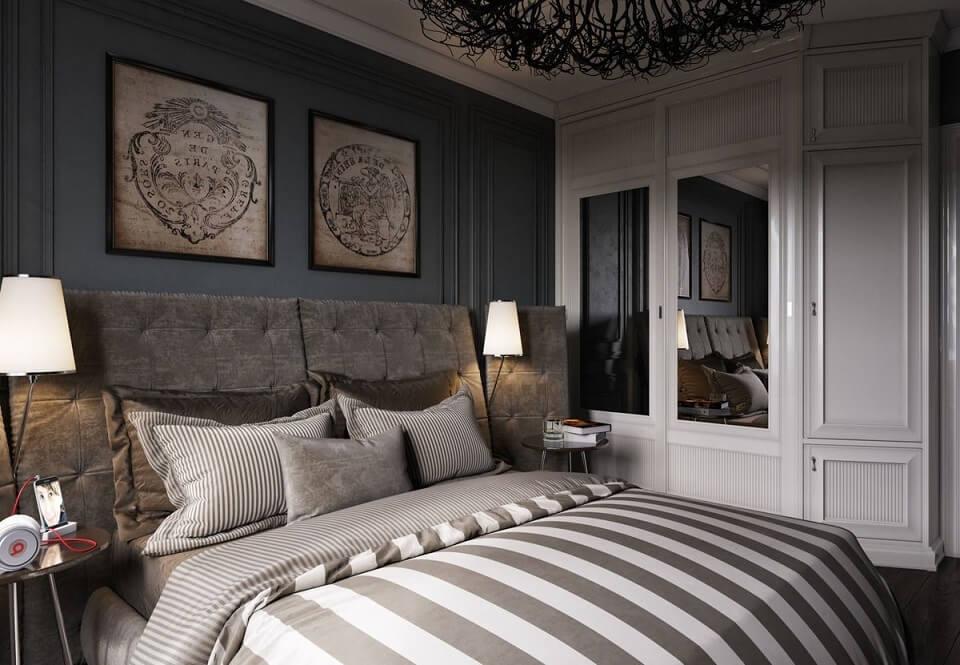 интерьер спальни в стиле арт деко