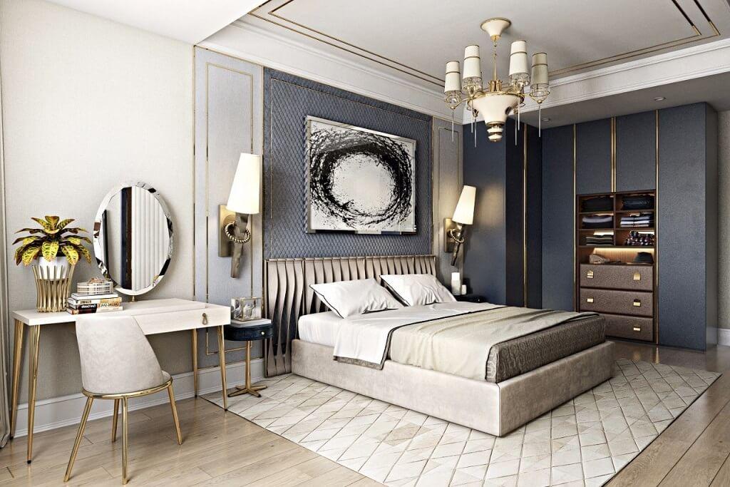 спальня в арт деко стиле