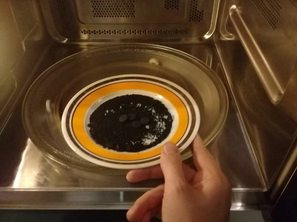 чистка свч активированным углем